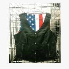 Ladies Vest W/USA Flag Lining