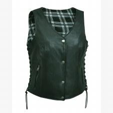 Ladies Vest WBK-WH-Plaid