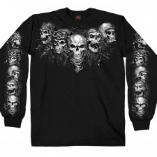Men's LS T Shirt 5 Skulls