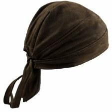 Nubuck Brown Skull Cap