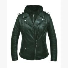 Ladies Lambskin Hoody Jacket