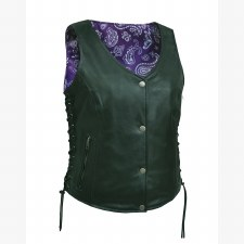 Ladies Vest W/Purple Paisley