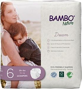 Bambo Diaper Sz6 (35+lb) DRM