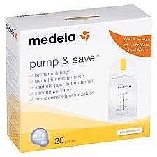 Medela Pump & Save Bags 20-pk