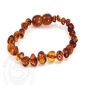 Baltic Amber Adult Bracelet Cognac Color