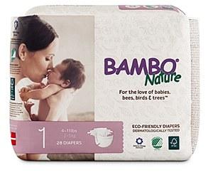 Bambo Diaper Sz1 (5-11lb)WHT