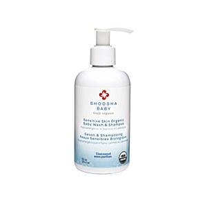 Shoosha Organic Baby Wash & Shampoo, Unscented, 8.5oz