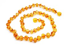 Baltic Amber Adult Necklace Raw Baroque Beads Honey