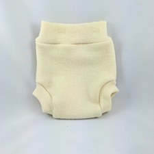 Babee Greens Natural Wool Pull-on Diaper Cover, Medium (15-25lbs)