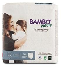 Bambo TPant Sz 5 (26-44lb)WHT