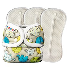 Bummis Duo Brite pre-pack, Elephants, size 1