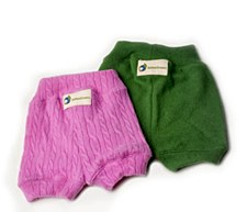 Babee Greens Cashmere Shorties, Large, Girl-ish Colors