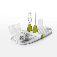 OXO Breast Pump Parts Drying Rack and Detail Brushes