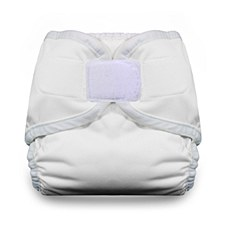 Thirsties Diaper Cover - Hook & Loop Closure, Newborn, White