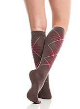 VIM Socks Wool Brown/Red L