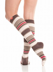 VIM Socks Nylon Brown/Blush XL