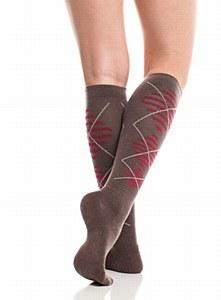 VIM Socks Wool Brown/Red L