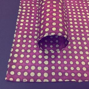 Batik Dots - Maroon