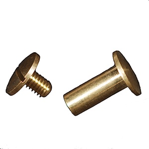 Brass Screw & Post - 13mm