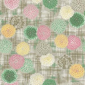 Chiyogami Chrysanthemum Beige