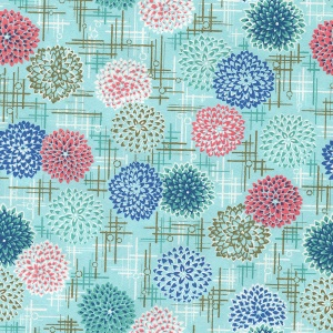 Chiyogami Chrysanthemum Blue
