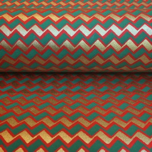 Chiyogami Red Zigzag