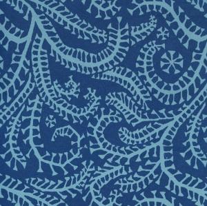 CI Seaweed Paisley Cyanotype