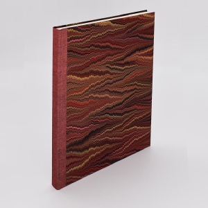 Desk Journal Blank Red Comb