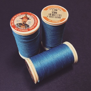 French Linen Azure Blue 735