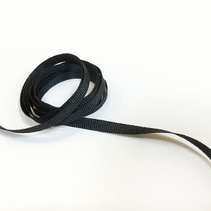 Grosgrain Ribbon 6mm Black