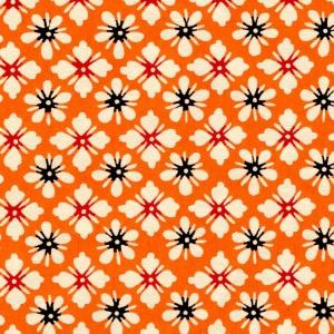 Katazome-Shi Orange Floral