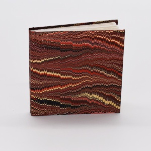 Notebook - Marbled Red Comb