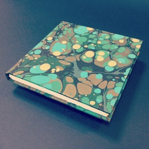 Square Paper Book - Marbled 10