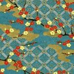 Chiyogami Blue Trellis