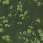 Cyanotype Leaves Olive Green