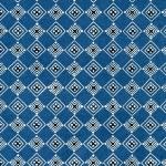Katazome-Shi Blue Harlequin
