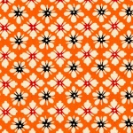 Katazome-Shi Orange Floral