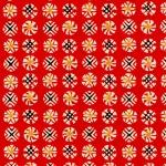Katazome-Shi Red Circles