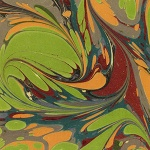 Printed Marbled Papers - No12