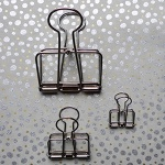 Wire clip - silver medium