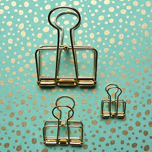 Wire clip - gold large
