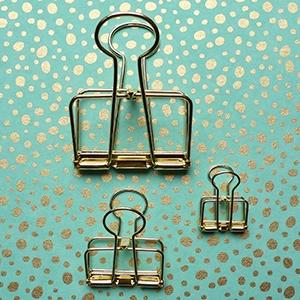 Wire clip - gold medium