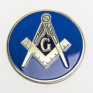 Blue Lodge Auto Emblem