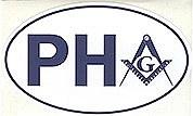 Prince Hall Auto Oval sticker