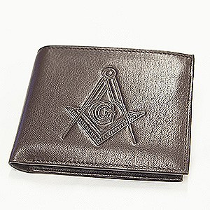 Leather Flipfold Wallet Brown