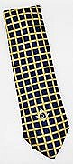 Dark Blue Necktie with Gold Grid and Square and Compass