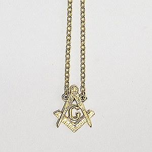 Square & Compass Tie Chain