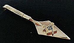Trowel Tie Bar Goldtone
