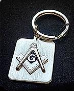 Rhodium Finish Key Ring