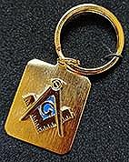 Gold tone Key Ring